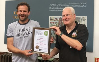 Hurst takes Silver place at the Champion Beer of Britain 2018